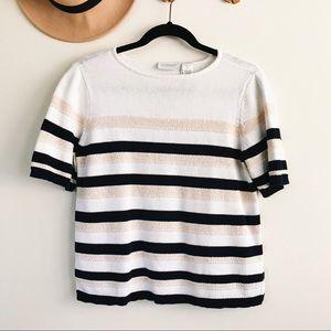 Liz Claiborne   Short Sleeve Sweater Top